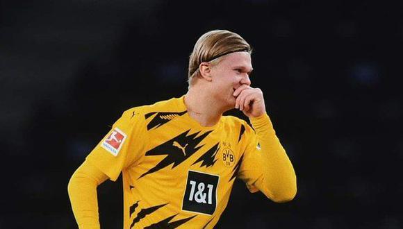 Erling Haaland tiene contrato con el Borussia Dortmund hasta el 2024. (Foto: AFP)