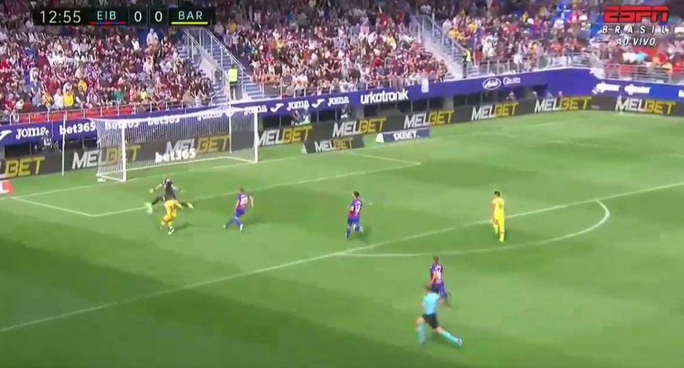 Antoine Griezmann apareció a los 14 del Barcelona vs Eibar para el marcar el gol del 1-0 en partido de Liga Santander 2019