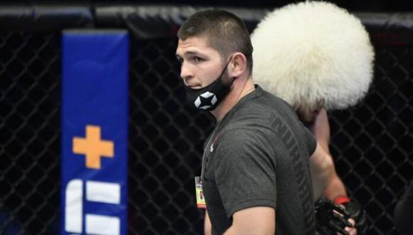 Khabib Nurmagomedov estiró su racha invicta como entrenador y ya lleva siete triunfos en lo que va del año. (UFC)