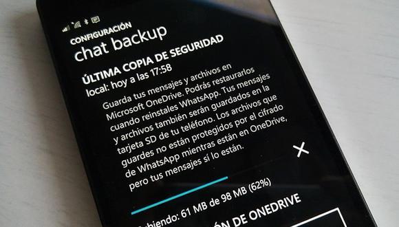 Así podrás reactivar la copia de seguridad de WhatsApp en Google Fotos. (Captura)