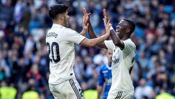 Asensio y Vinicius, los 'beneficiados' con la salida de Bale del Madrid. (Foto: AFP)