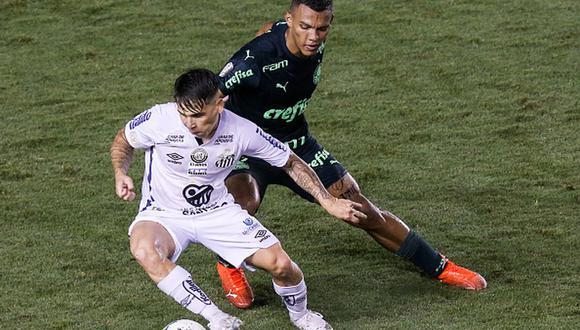 Santos y Palmeiras vienen de eliminar a Boca y River, respectivamente, en la Copa Libertadores. (Getty)