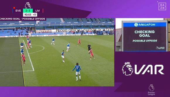 VAR anuló gol de triunfo de Liverpool ante Everton por Premier League.