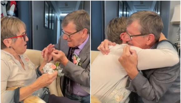 Cada semana le propone matrimonio a su esposa con Alzheimer y ella siempre dice que sí. (Foto: @thekatykat / TikTok)