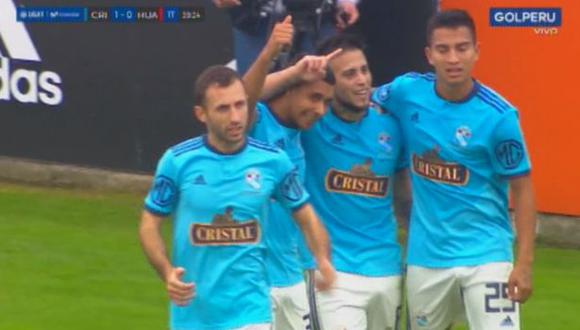 Cristian Palacios anotó el 1-0 para Sporting Cristal