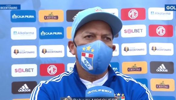 Roberto Mosquera brindó estas declaraciones tras clasificación de Sporting Cristal en Copa Bicentenario.