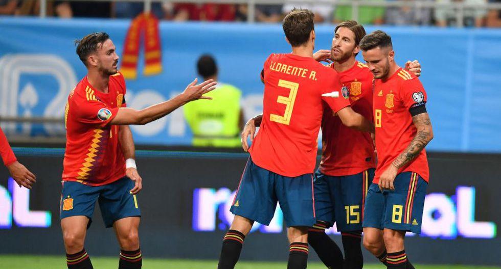 España venció 2-1 a Rumanía en Bucarest por Eliminatoria Eurocopa 2020. (AFP)