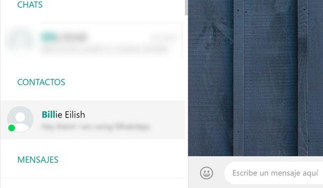 Cada vez que aparece un círculo verde en la foto del usuario, significa que está