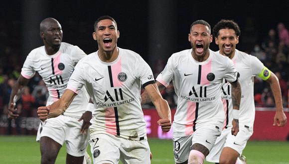 Hakimi suma tres goles y una asistencia en la Ligue 1 con el PSG. (Foto: AFP)