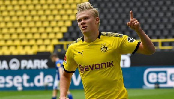 El precio de salida de Haaland del Dortmund sería de 150 millones de euros. (Foto: AFP)