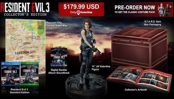 Resident Evil 3 Remake: precio y contenido de la edición coleccionista. (Foto: Capcom)