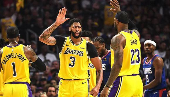 Los Lakers se enfrentaron a los Clippers en el reinicio de la NBA. (Foto: Agencias)