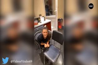 Viral: joven se atora en lavadora al intentar hacer Tik Tok