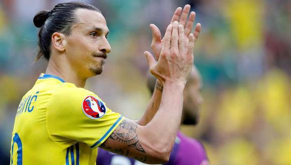 Zlatan Ibrahimovic se viene recuperando de una lesión en la rodilla. (Foto: AP)