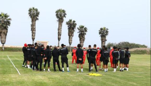 El primer equipo de Universitario volvió a Campo Mar este lunes. (Foto: Prensa 'U')