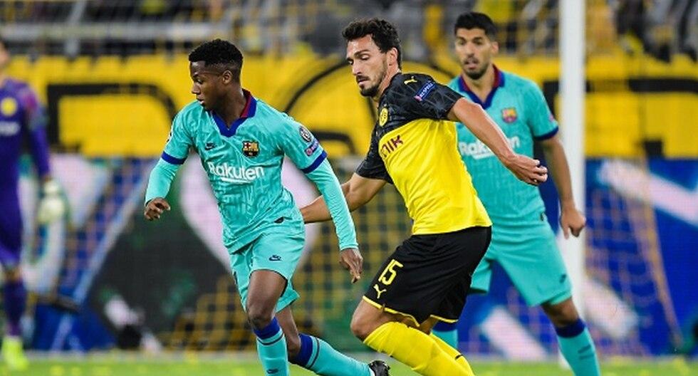 Borussia Dortmund vs. Barcelona en Signal Iduna Park por la Champions League. (Foto: Getty Images)