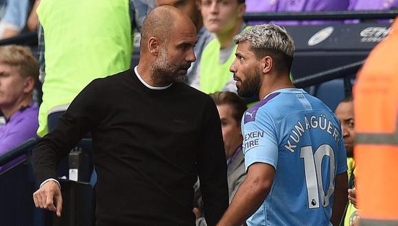 Pep Guardiola reveló que Sergio Agüero jugará la próxima temporada en Barcelona. (Foto: AFP)