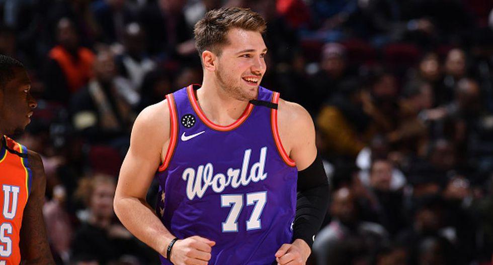 Luka Doncic de Dallas Mavericks para el Team LeBron. (Getty Images)
