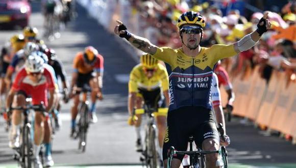 Primoz Roglic se quedó con la Etapa 4 del Tour de Francia 2020 en Orcieres Merlette. (Twitter)