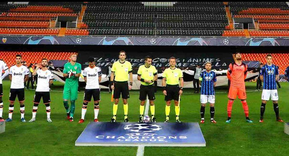 El Valencia-Atalanta por la vuelta de octavos de la Champions se jugó a puerta cerrada. (Foto: UEFA)