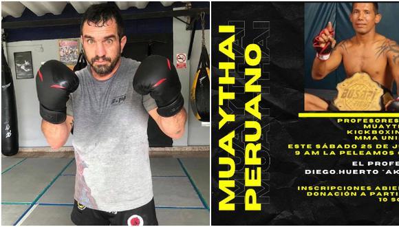 Clase virtual este sábado para ayudar a Diego 'Akita', reconocido peleador que tiene a su padre está en estado crítico por el coronavirus. (Facebook)