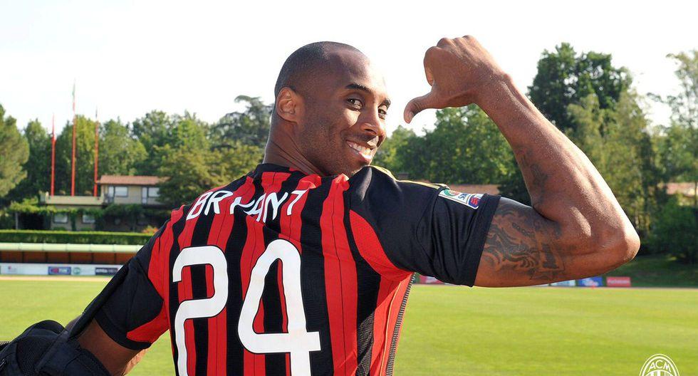 Kobe Bryant en el AC Milan. (AC Milan)