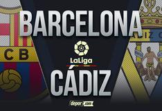 ESPN gratis, Barcelona vs Cádiz EN VIVO: incidencias hoy por LaLiga Santander