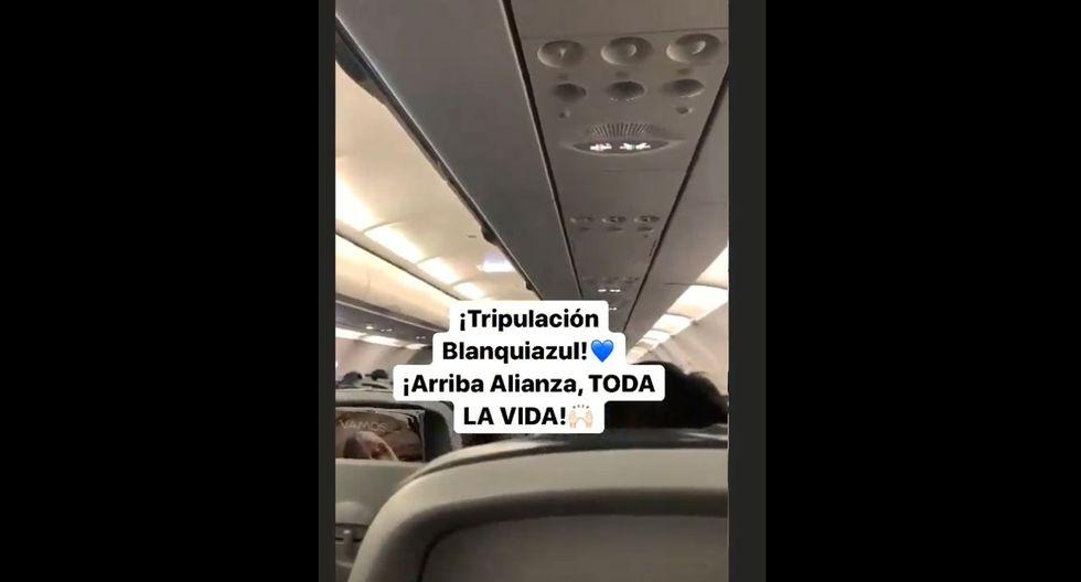 Piloto de avión saludó a jugadores de Alianza Lima tras empate ante Binacional. (Video: Instagram)