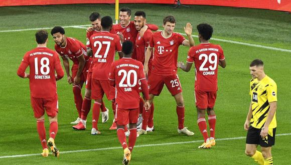 Bayern Munich venció a Dortmund por la Bundesliga. (Foto: AFP)