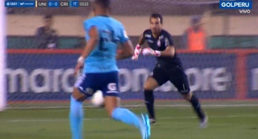 La impresionante salvada de José Carvallo que evitó el gol de los celestes. (Video: GOLPERU)