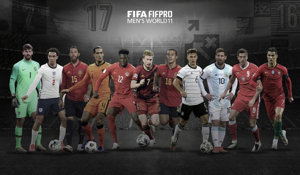 Así quedó conformado el once del 2020 que fue anunciado y premiado en la ceremonia del FIFA The Best.