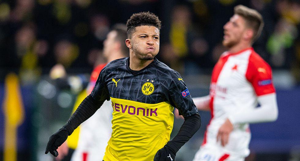 Jadon Sancho registra 26 goles en 84 partidos disputados con el Dortmund desde que llegó en 2017-18. (Getty)