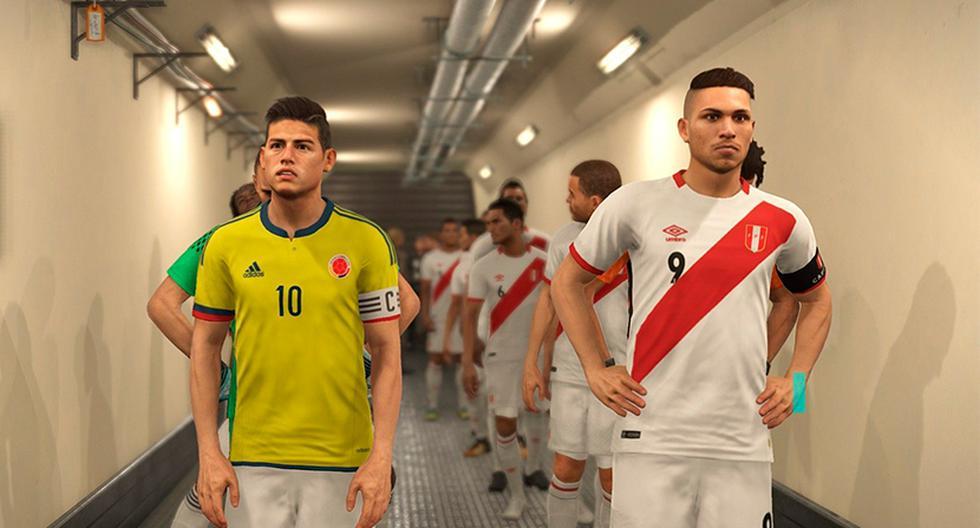 Perú vs. Colombia (Foto: PES 2018)