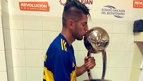 Así celebró Zambrano el título de Boca Juniors. (Foto: Twitter)