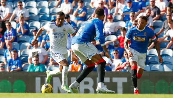 Real Madrid cayó 2-1 ante Rangers en amistoso en Glasgow. (Foto: Real Madrid CF)