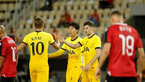 Tottenham venció 3-1 al Tottenham de Macedonia, anotaciones marcadas por Lamela, Son y Kane. (Foto: Tottenham)