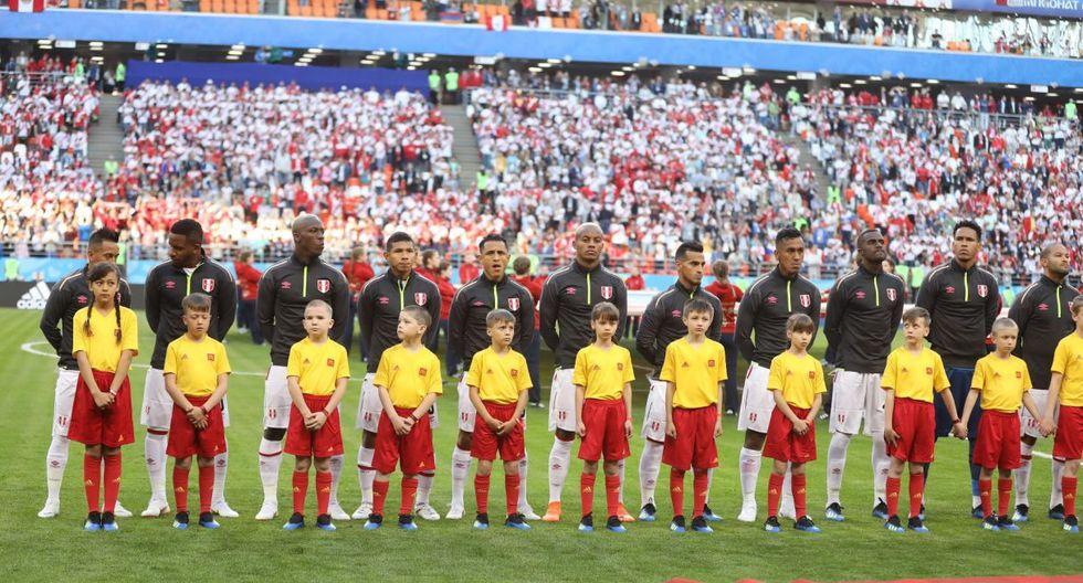 Cueva, Farfán, Advíncula, Flores, Yotun, Carrillo, Trauco, Tapia, Ramos, Gallese y Rodríguez fueron los once peruanos elegidos para este partido. (Foto: Giancarlo Ávila)