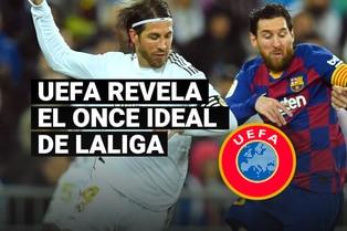 Con cinco del Real Madrid y uno del Barcelona, conoce el once ideal de LaLiga según la UEFA