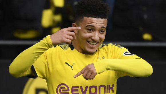 Jadon Sancho llegó al Borussia Dortmund desde el Manchester City. (Foto: AFP)