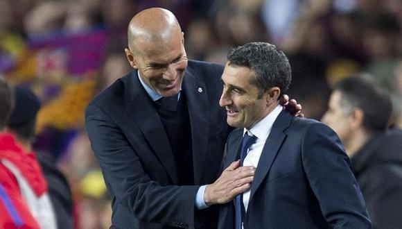 Ernesto Valverde fue cesado de su cargo en el Barcelona, y Zinedine Zidane habló al respecto de su salida. (Foto: Agencias)
