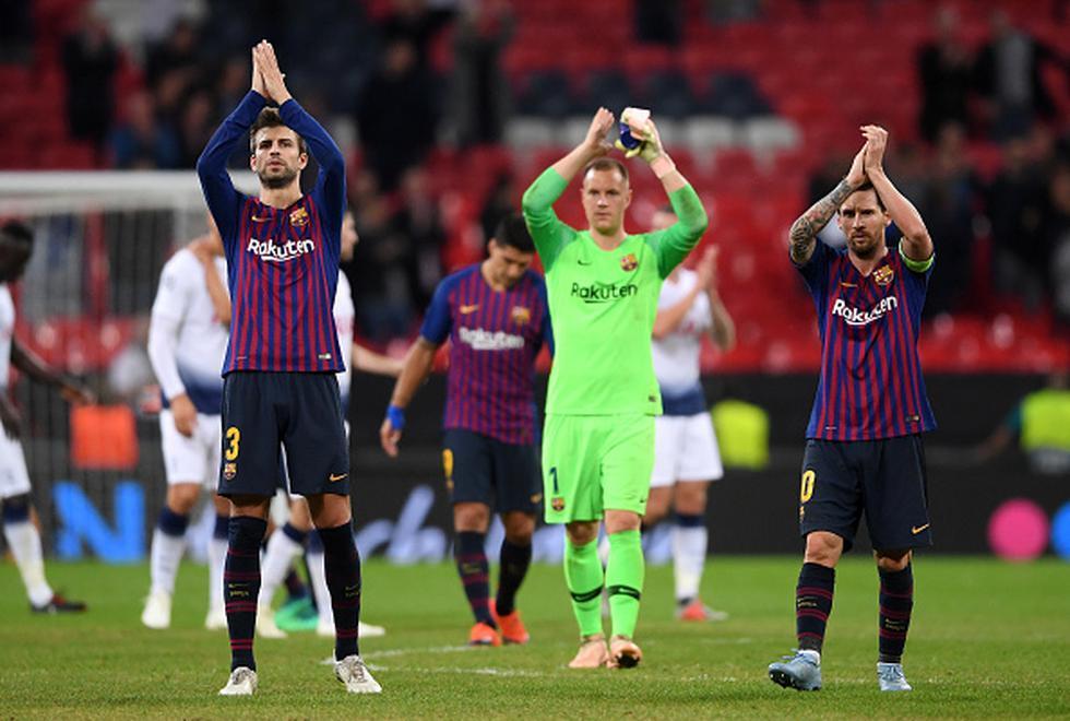 Barcelona vs Tottenham: así jugaron por Champions League. (Getty Images)