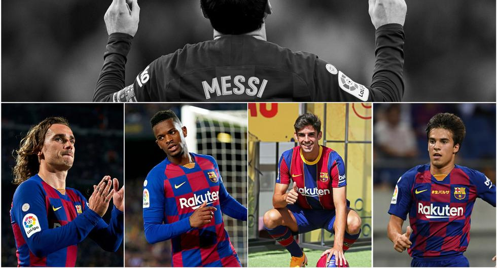 El  futuro once del Barcelona sin Leo Messi. (Getty)