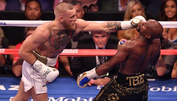 McGregor y Mayweather se enfrentaron en una pelea de boxeo en 2017. (Foto: Getty Images)