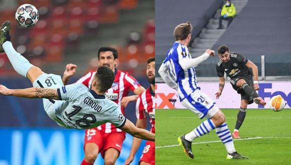 Chelsea y Manchester United superaron sin inconvenientes a sus rivales españoles en Champions League y Europa League. (Fotos: Agencias)
