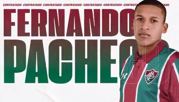 Pacheco será refuerzo del Fluminense por los próximo cuatro años. (Captura)