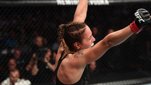 Antonina Shevchenko venció por sumisión a Pudilova en el UFC Newark. (Twitter)