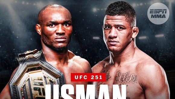Kamaru Usman y Gilbert Burns protagonizarán la pelea estelar por el título wélter. (Foto: ESPN)