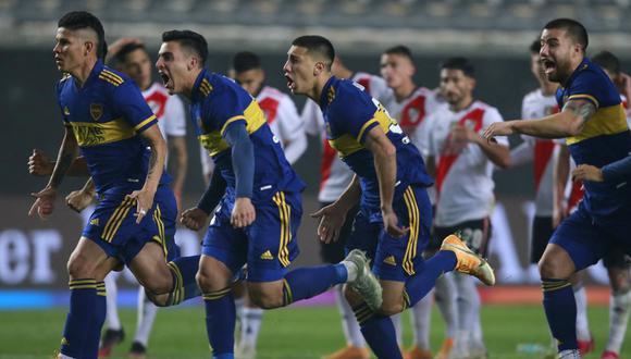 Boca venció a River en penales y clasificó a cuartos de final de la Copa Argentina (Foto: AFP).