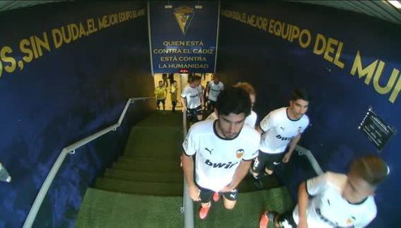 Valencia regresó al campo para enfrentar a Cádiz tras insulto racista sobre Diakhaby. (Captura: ESPN)