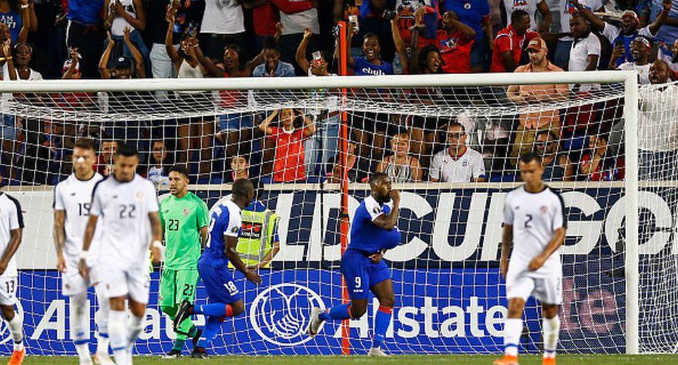 Haití remontó ante Costa Rica y ganó el Grupo B de la Copa Oro 2019 (Getty)